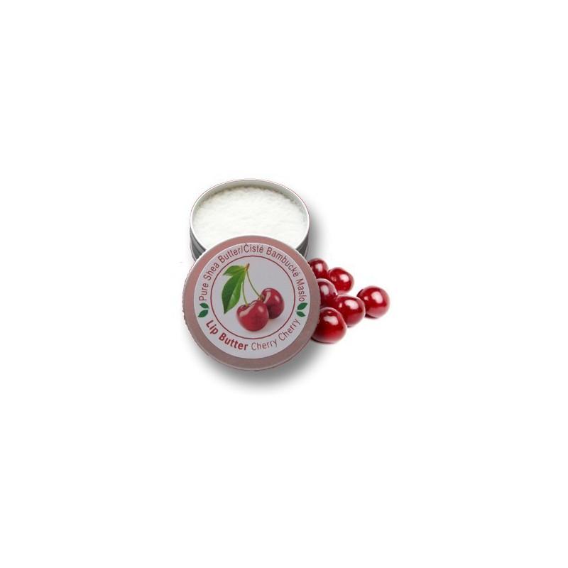 LIP BUTTER S ČISTÝM BAMBUCKÝM MASLOM - cherry 15 ml